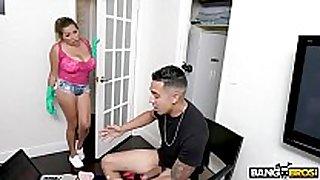 Bangbros - breasty lalin BBC doxy maid alesandra receives soaked...