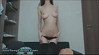 Huge creamy squirt from slim girls love tunnel