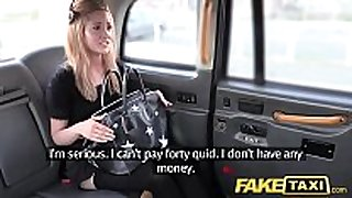 Fake taxi small blond in pull up nylons