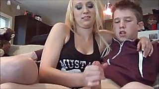Step sister jerks brother- watch greater amount at cum2her.com