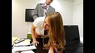 Secretary seducing boss by photocopying milk cans a...