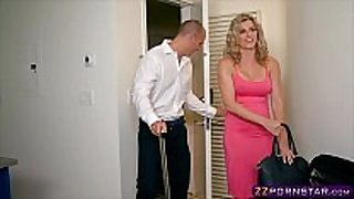 Awesome golden-haired milf cory pursue doing anal with ...