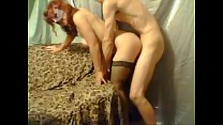 Milf in haunch highs bent over and pounded