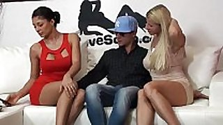 Stunning italian pornstars giving a kiss every other a...