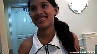 Shy but curious filipina legal age teenager has 1st foreign...