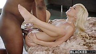 Blacked 1st interracial for naughty blonde el...