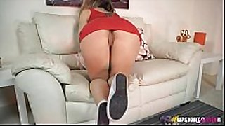 Upskirt tease from a hawt british white messy slut horny white cheating hotwife is astoni...