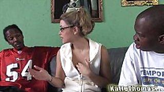 Katie thomas acquires three-some screwed