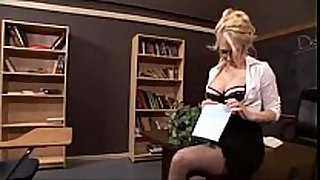 Sexy golden-haired teacher screwed - facialxvideos.com
