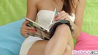 Givemepink dark brown hair hair babemasturbates her delici...