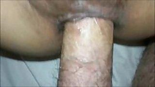Fucking her dark anal opening - anal sex