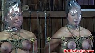 Bdsm thrall duo punished in maledoms dungeon