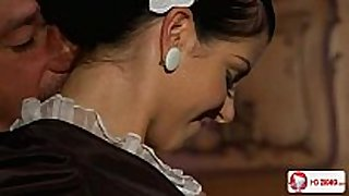 Maid sexually indulges his dom