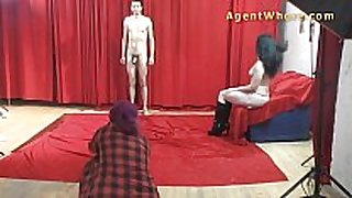 19yo casting chap acquires wild striptease from nast...