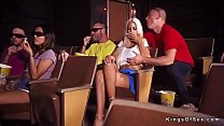 Huge pointer sisters blond cheating at the cinema