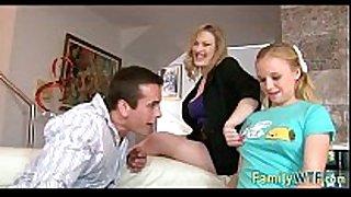 Husband and white honeys fuck the babysitter 096