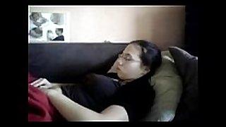 Watch my elder sister masturbating. hidden webcam