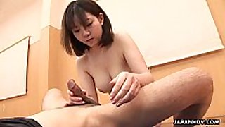 Titty fucking the jock with her oriental face hole