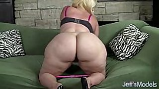 Plus-sized blonde masseratie monica dildos hers...