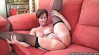 British milf enjoyment exposing her big melons and hawt ...