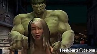 Foxy 3d hottie gets fucked by the incredible hulk...