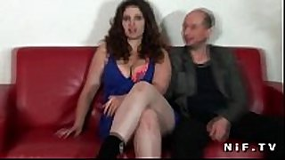 Chubby french amateur black brown hard fucked in f...