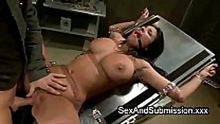 Huge hooters black brown hair hair acquires thraldom sex