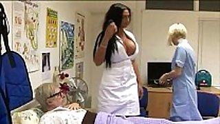 Sexy cfnm nurses give oral pleasure
