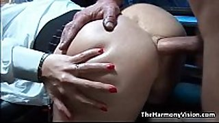 Busty blonde slut gets her gazoo