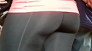 Tight spandex butt