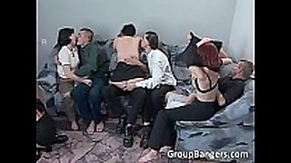 Incredible group sex action