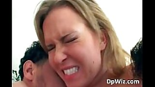 Slutty golden-haired gets her butt and cum-hole