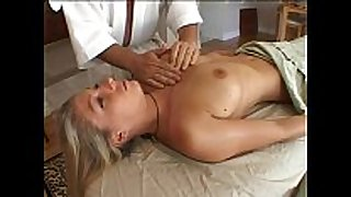 Blonde acquires peculiar massage