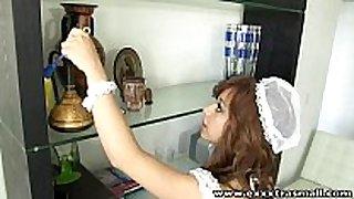 Exxxtrasmall petite housemaid shaved love tunnel hard...
