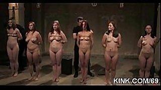 Extreme fantasy of black schlong sluts fastened and double penetr...
