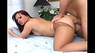 Kinky in nature's garb crotchless pantyhose sex and footjob