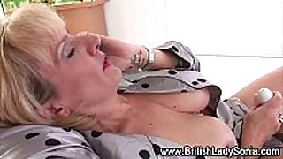 Mature british concupiscent Married wench in stockings