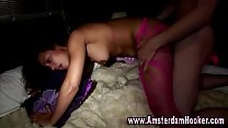 Real amsterdam prostitute acquires a facial