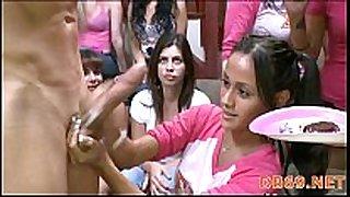 Girls go insane for the dancing bear crew