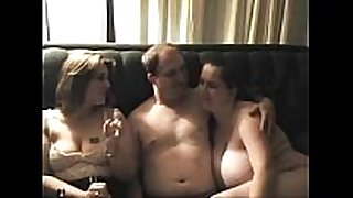 On real threesome girls don't stop after fellow cums