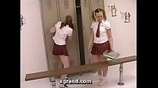 In the gals lockerroom