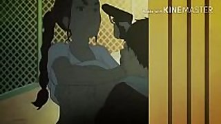 Young breasty dark brown prostitute satisfies bulky chap.