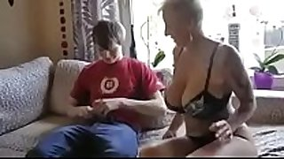Busty step mommy drilled by son's ally