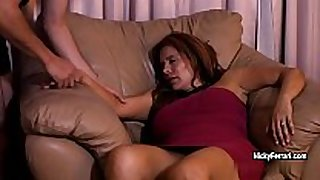 Juicy mature redhead is having a surprise during the time that...